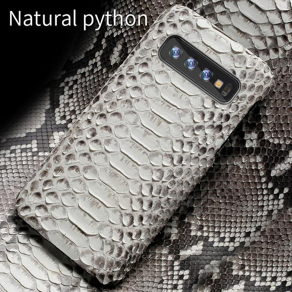 Genuine Python Leather Case Snakeskins Cover For Samsung Galaxy S10 S10 Plus S9 Note 10