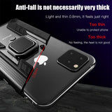 Shockproof Armor Case with Magnetic Car Bracket Finger Ring Cover for IPhone 11 Pro Max