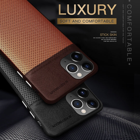 Genuine PU Leather Business Phone Case for iPhone 11 Pro Max