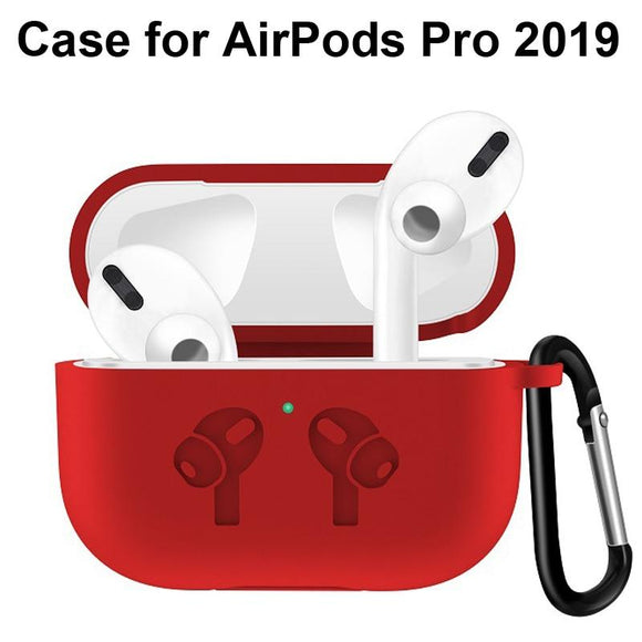Luxury Soft Silicone Shockproof Case for Airpods Pro Airpods 3 With Keychain