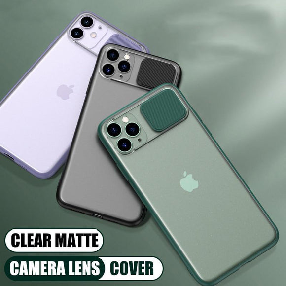 Slide Camera Lens Protection Shockproof Phone Case For iPhone 11 Pro Max XR XS Max 6S 7 8