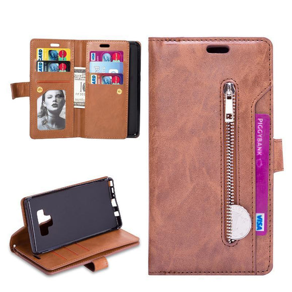 9 Card Slot Luxury PU Leather Case For Samsung Galaxy Note 9