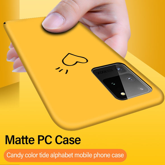 Ultra thin Colorful Matte Hard PC Case For Samsung Galaxy S20 Series