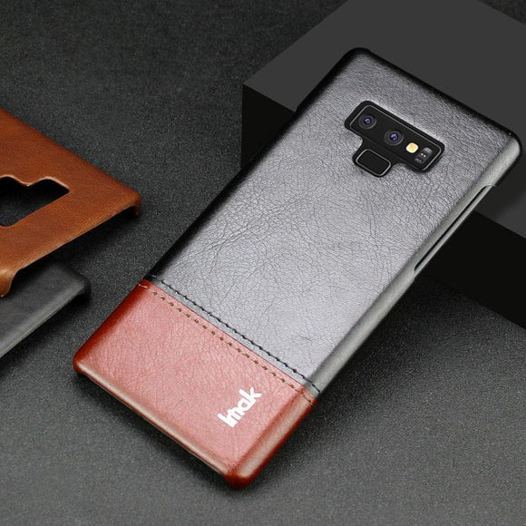 For Samsung Galaxy Note 9 Light Luxury Slim Concise PU Leather