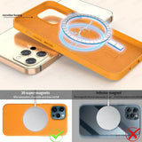Luxury Original Magnetic Genuine Leather Case for Apple iPhone 12 Series