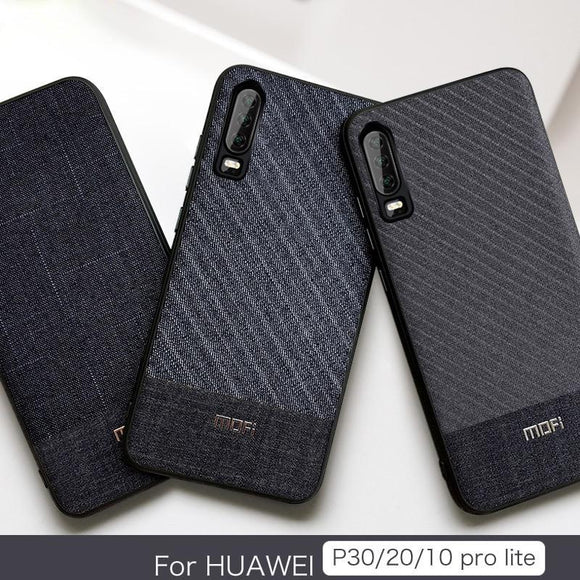 For Huawei P30 P30 Pro P20 P20 Pro Lite Cloth Gentleman Case