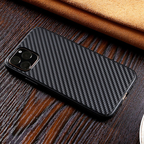 Luxury Soft Non slip Carbon Fiber Heavy Duty Protection Case For iPhone 11 Series