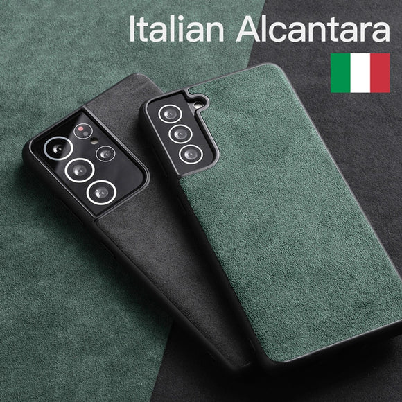 Luxury Business Artificial Alcantara Leather Phone Case for Samsung Galaxy S21 S20 Note20 Series