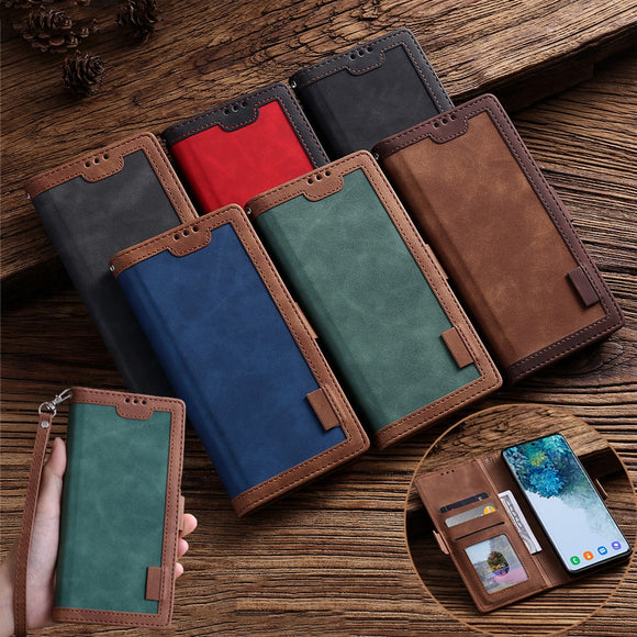 Luxury Retro Leather Magnetic Flip Wallet Case For iPhone 12 11 Pro Max