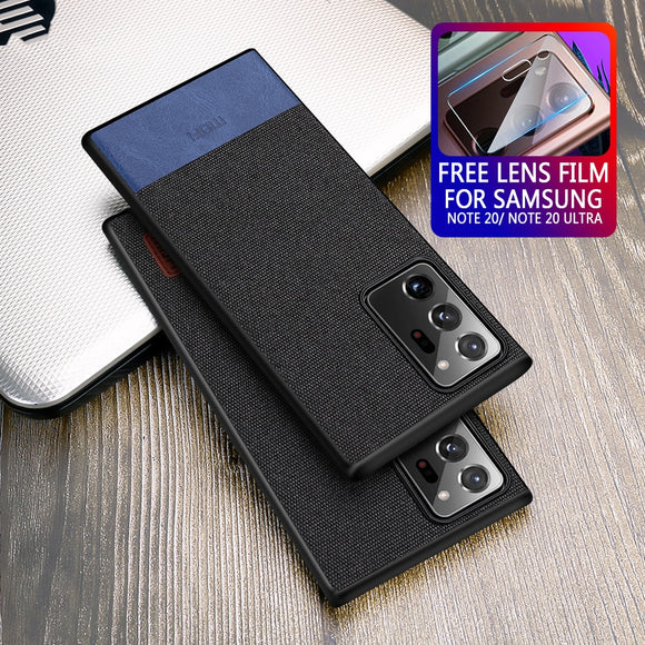 Luxury Shockproof Fabric Case for Samsung Galaxy Note 20 Series