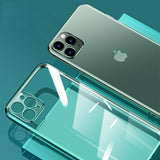Shockproof Cover Protective Transparent Case Square Shell For iPhone 11
