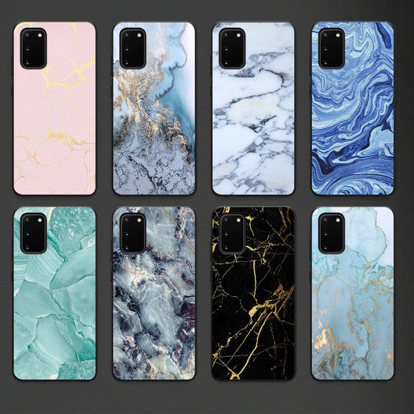 New Fashion Design High Quality Soft TPU Silicone Marble Case for Samsung S20 Series
