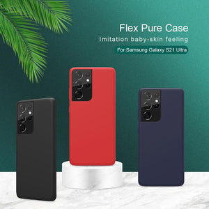 Flex Pure Liquid Smooth Silicone Back Cover Case for Samsung Galaxy S21 Series