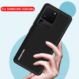 Carbon Fiber Texture Fashion Leather Case For Samsung Galaxy S20 & Note 20 Series