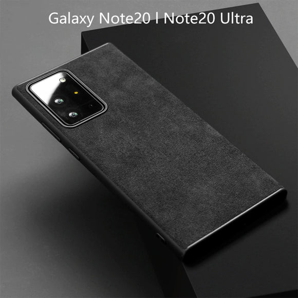 Alcantara Artificial Real Suede Leather Phone Case for Samsung Galaxy Note 20 & S20 Series