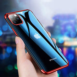 Soft TPU Slim Transparent Plating Full Protective Bumper Case For iPhone 12 Pro Max | 12 Mini