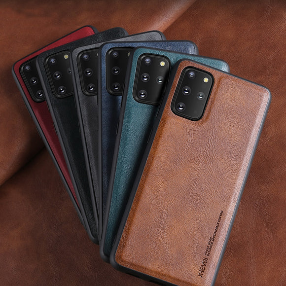 Full Corner Protection Leather Case For Samsung Galaxy S20 Series