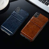 Vintage Leather Case For iPhone X XS Max XR 8 Plus