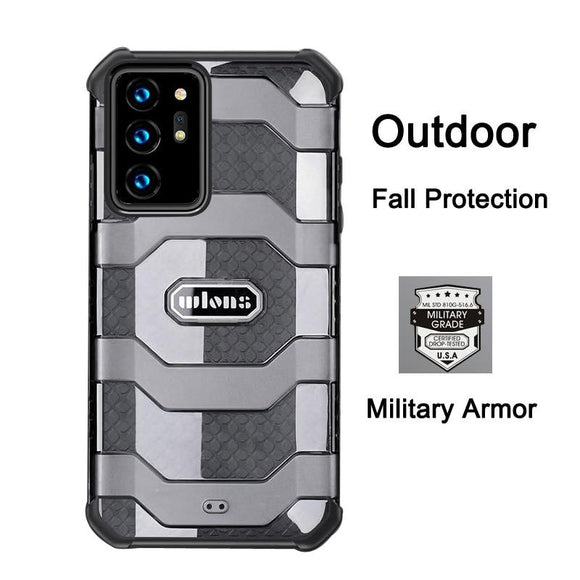 Translucent Airbag Anti slip Military Armor Case for Samsung Galaxy S21 S20 Note 20 Series
