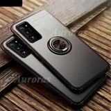 Magnetism Back Cover Business Style with Holder Ring Case for Samsung Galaxy Note 20 Ultra