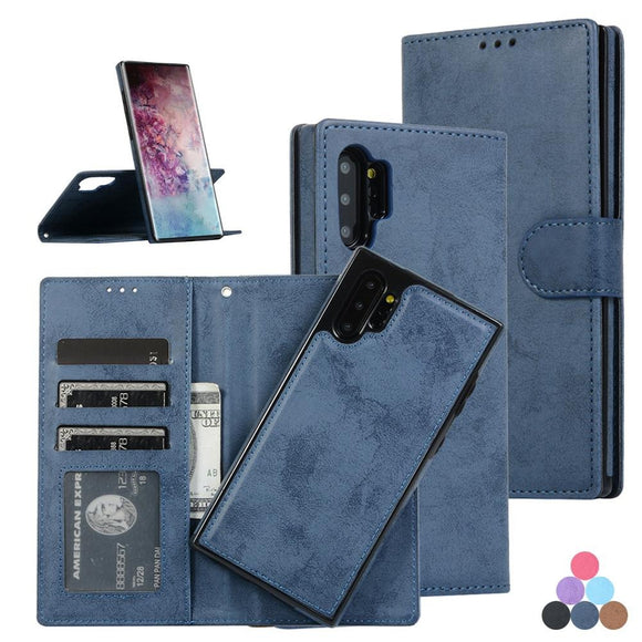 Retro Leather Wallet Card Car Magnetic Removable Case For Samsung Galaxy S20 Series
