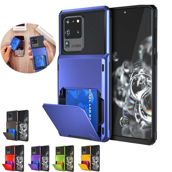 Luxury Slim Shockproof Wallet Case Heavy Duty Protection For Samsung S20 Series