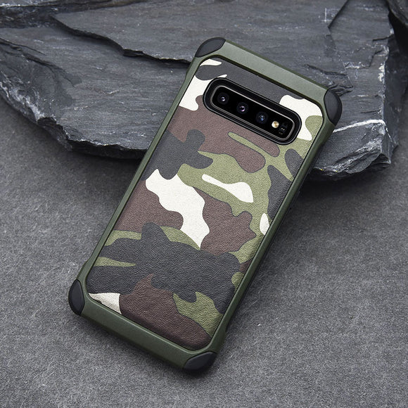 Army Camouflage Shockproof Waterproof Case For Samsung Galaxy S10 Series