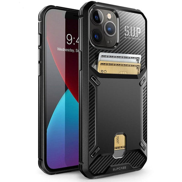 UB Vault Slim Protective Built in Card Holder Design Wallet Case For iPhone 12 Pro Max / iPhone 12 Pro / iPhone 12 / iPhone 12 Mini