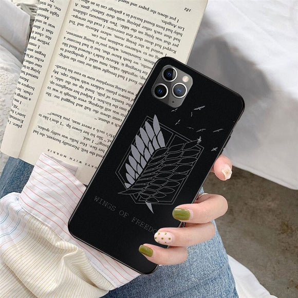 Anime Japanese Attack on Titan Phone Case For iphone 12 11 Series