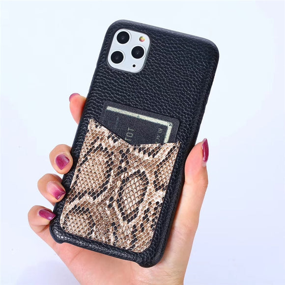 Luxury Snake Texture Card Holder Leather Case for iPhone 11 Pro Max  2