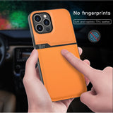 Fashion Splicing PU Leather Silicone Back Cover Phone Case for iPhone 12 & 11 Series