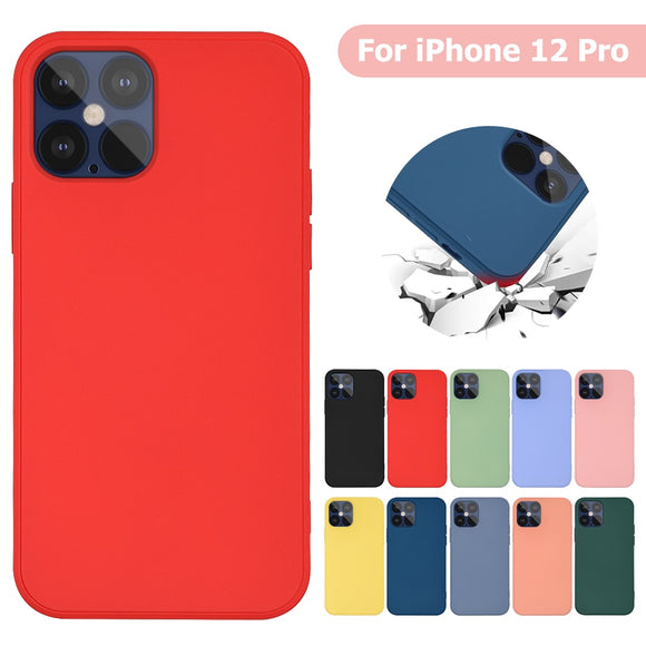 New Luxury Original Square Ultra Thin Liquid Soft Silicone Camera Protection Shockproof Case For iPhone 12 | 12 Pro | 12 Max | 12 Pro Max