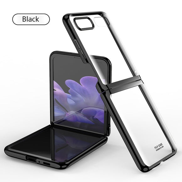 Anti Fall Transparent Fold Case For Samsung Galaxy Z Flip F7000