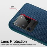 Luxury Nylon Fiber Texture Ultra Thin Anti Slip Shockproof Back Cover For Galaxy S20 Series