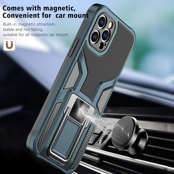 Armor Shockproof Luxury Magnetic Ring Phone Cover Case For Apple iPhone 12 11 Series