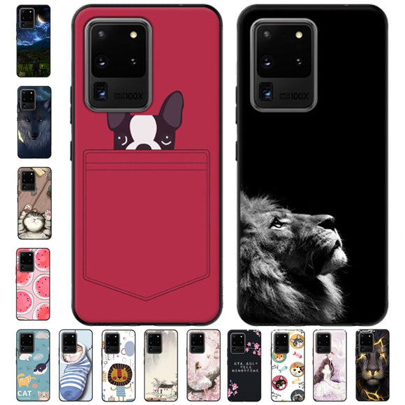 Lovely Cartoon Soft Silicone Case For Samsung Galaxy S20 Series