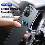 Ultra thin Metal Batman Matte PC Magnetic Protection Phone Case For iPhone 12 Series