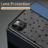 Genuine Leather 360 Full Protective Cover Case For iPhone 12 Series