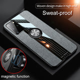 Car Magnetic Stand Ring Back Cover Heavy Duty Protection Case For Samsung S20 Series