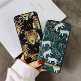 Luxury Brand Stylish 3D Relief Tiger Leopard Richmond Finch Case for iPhone 12 11 Pro Max
