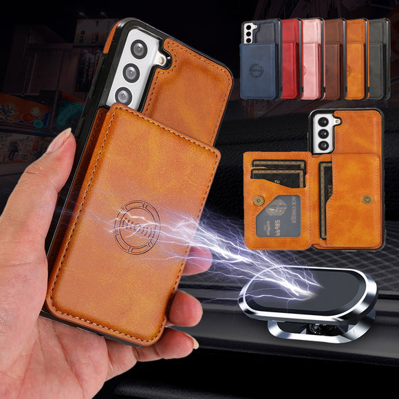 Leather Stand Card Slot Wallet Case For Samsung Galaxy S21 S20 Note 20 Series
