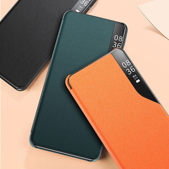 Magnetic Smart View Window Flip PU Leather Case for Xiaomi 10 Series