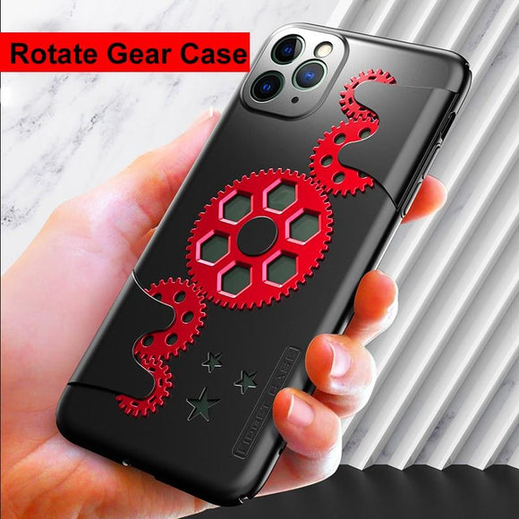 Mechanic Rotary Gear Decompression Heat Dissipation Case for iPhone 11 Pro Max