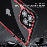Silicone PC Mixed Shockproof Armor Transparent Case for iPhone 12 Series