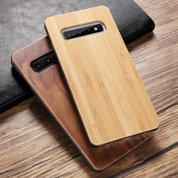 Luxury Vintage Real Wood Case For Samsung Galaxy S10 S10E S10 Plus S9 S8