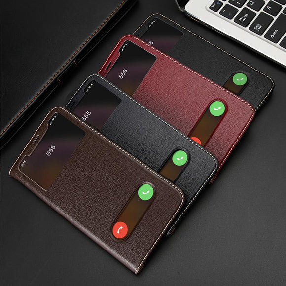 Retro View Window Leather Wallet Case For iPhone X XS Max 8 Plus