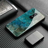 Glossy Tempered Glass Back Cover For Oneplus 6 6T