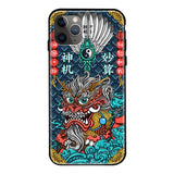 Luxury Tempered Glass Cover Chinese Style Shockproof Lucky Fashion Mascot Frameless 3D Relief Case For iPhone 11 Pro Max