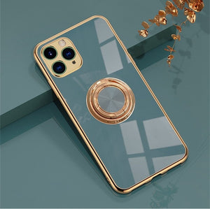 Anti-knock 6D Stand Soft Case With Finger Ring for iPhone 11 Series