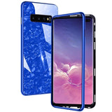Shell Pattern Magnetic Waterproof Luxury 360 Protective Tempered Glass Cover Case For Samsung S10 & iPhone X Series